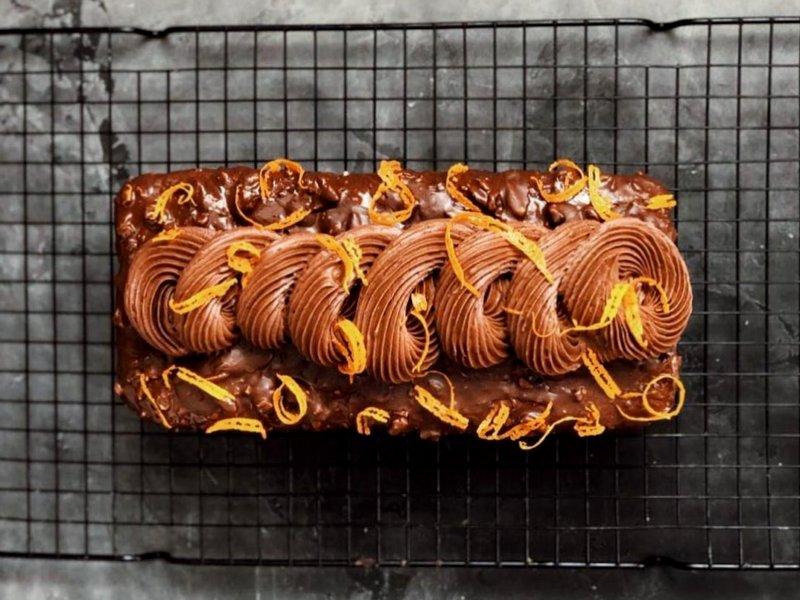 Апельсиновый кекс рецепт на кефире с цедрой в духовке