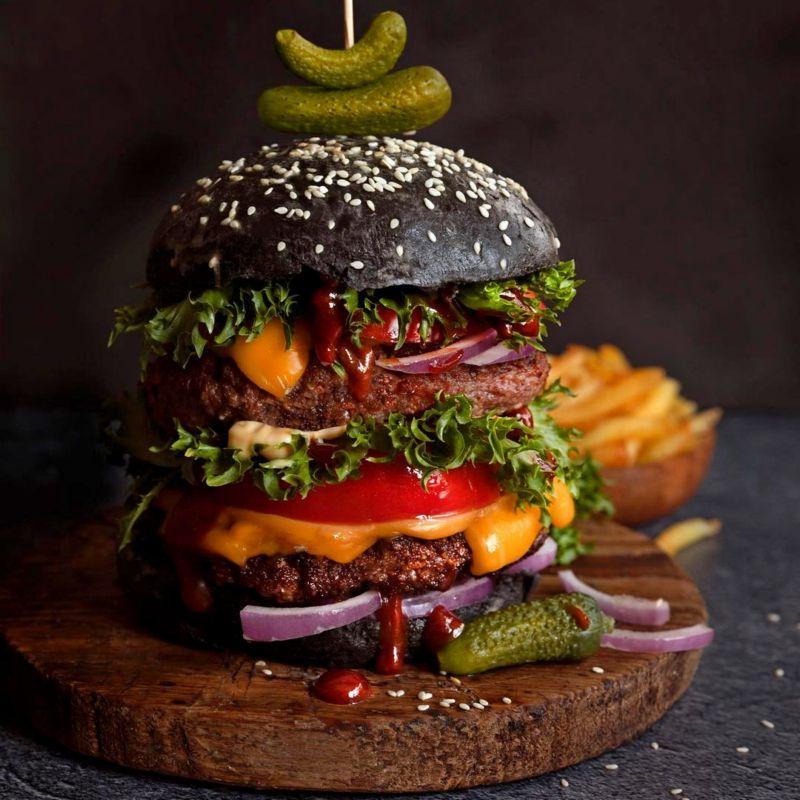 Черный бургер рецепт
