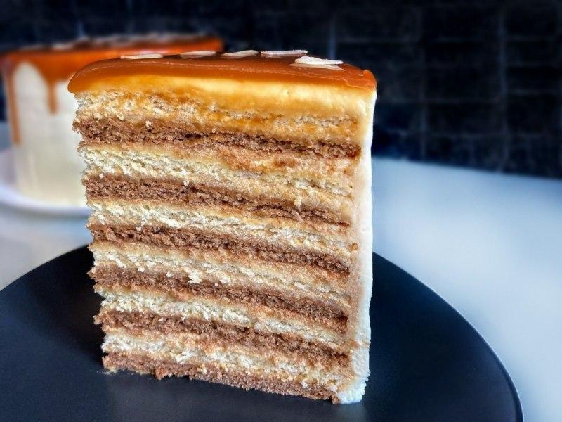 Торт с карамельным кремом рецепт в домашних условиях