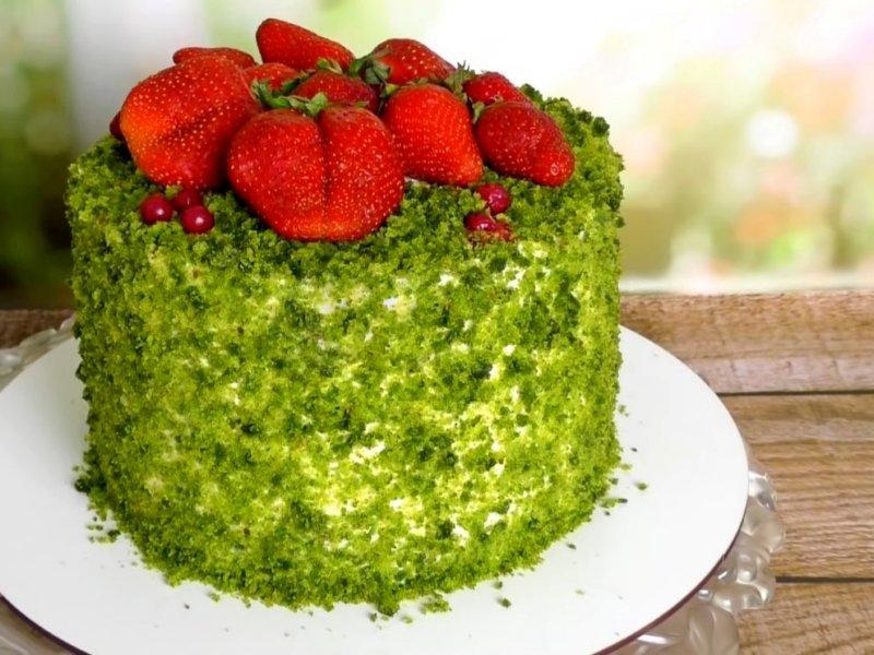 Изумрудный шпинатный торт рецепт с фото