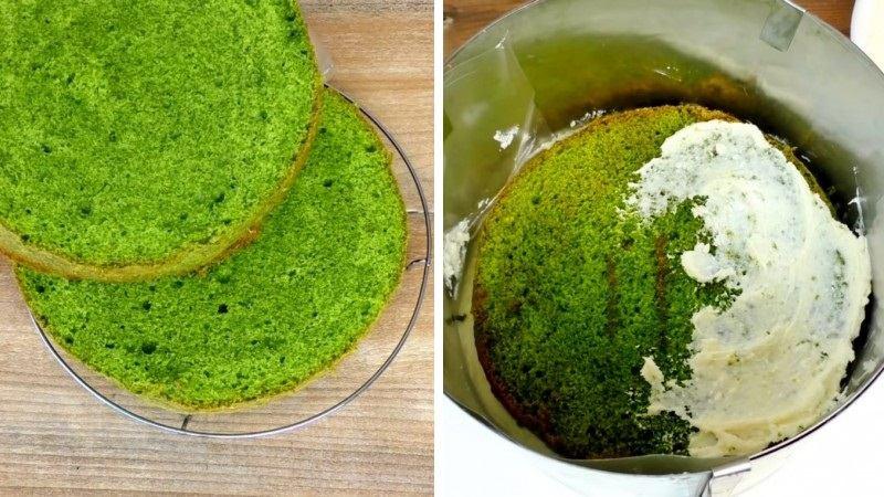 Изумрудный шпинатный бисквит рецепт пошагово с фото