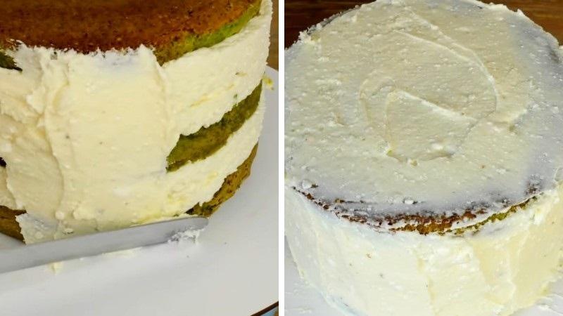 Шпинатный изумрудный торт с малиной пошаговый рецепт