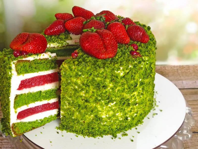 Изумрудный шпинатный торт рецепт