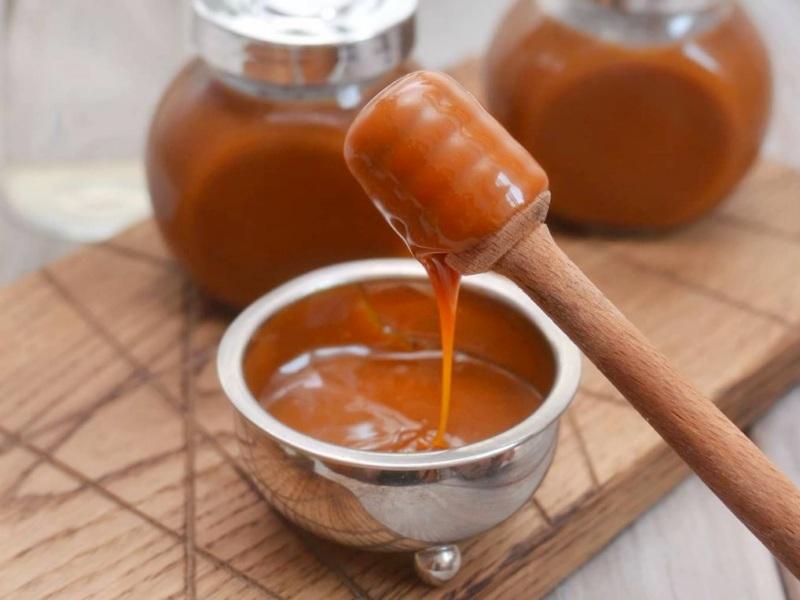 Рецепт соленой карамели без сливок