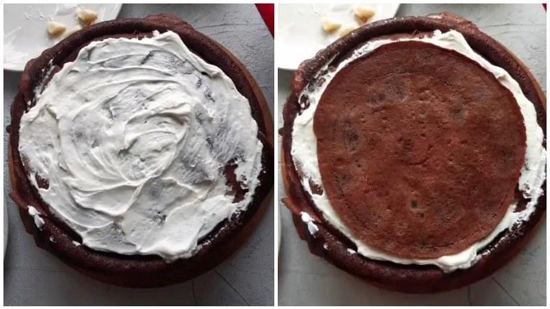 шоколадный блинный торт рецепт с творожным кремом и клубникой