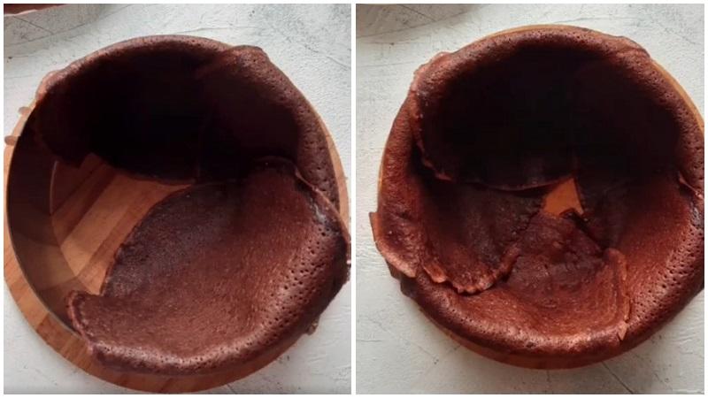 Шоколадный блинный торт рецепт на сковороде пошагово