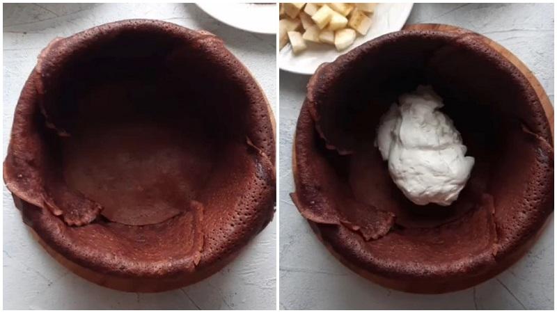 Шоколадный блинный торт рецепт с фото