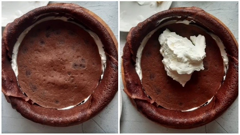 шоколадный блинный торт рецепт пошаговый