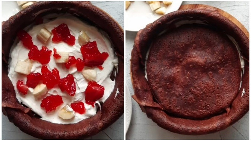 шоколадный торт из блинов рецепт