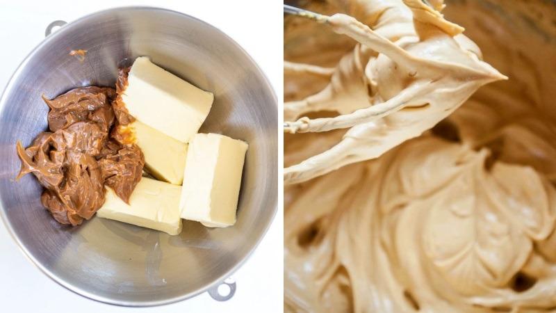 Карамельный крем с варёной сгущенкой и маслом для Наполеона рецепт