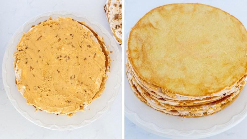 Торт Наполеон со сгущенкой и маслом рецепт пошагово в домашних условиях