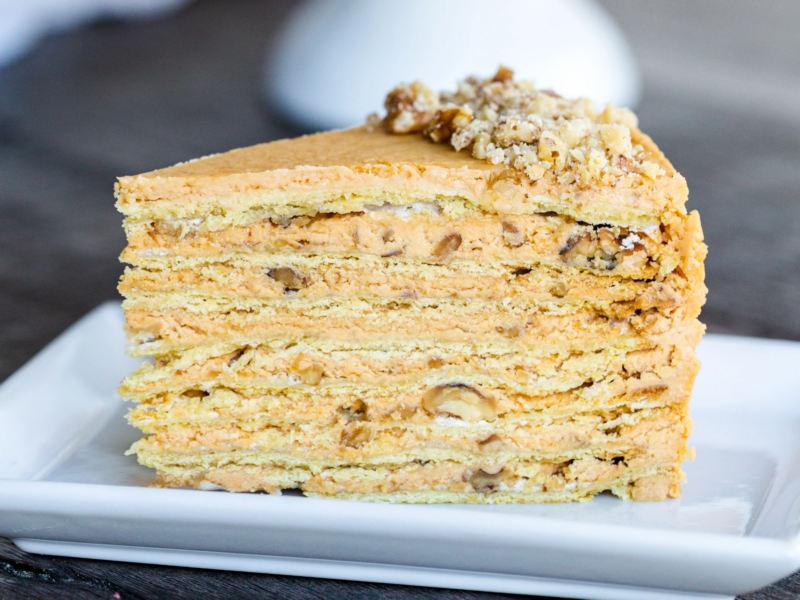 Торт Наполеон рецепт со сгущенкой и маслом