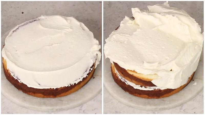 Как сделать простой торт Зебра со сметанным кремом