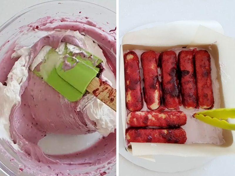 Десерт смородиновый тирамису