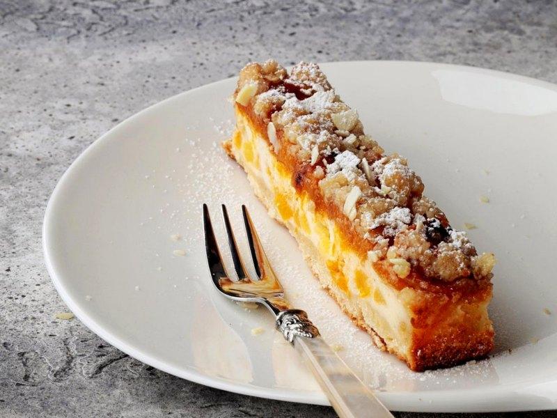 Абрикосовый пирог с песочным тестом