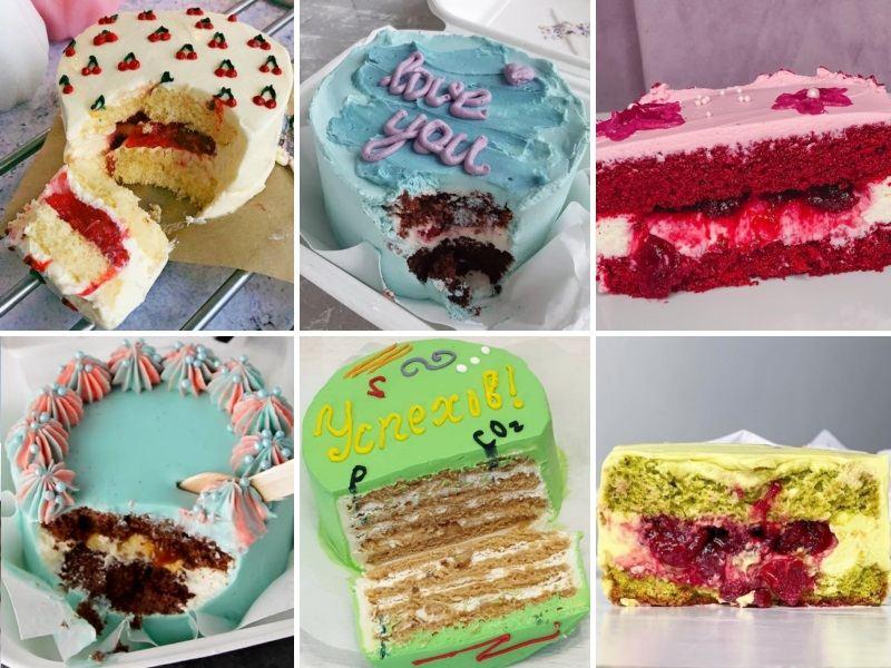 Бенто торт разрез