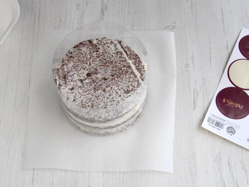Подготовка бенто торта для заливки глазури Цунами