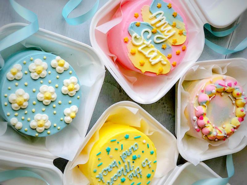 Бенто торты классический декор