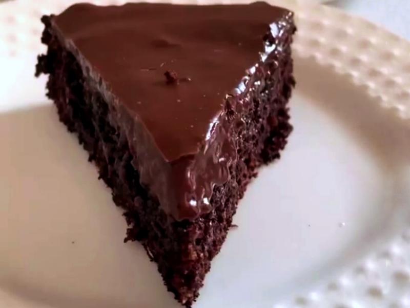 Брауни без муки на сковороде