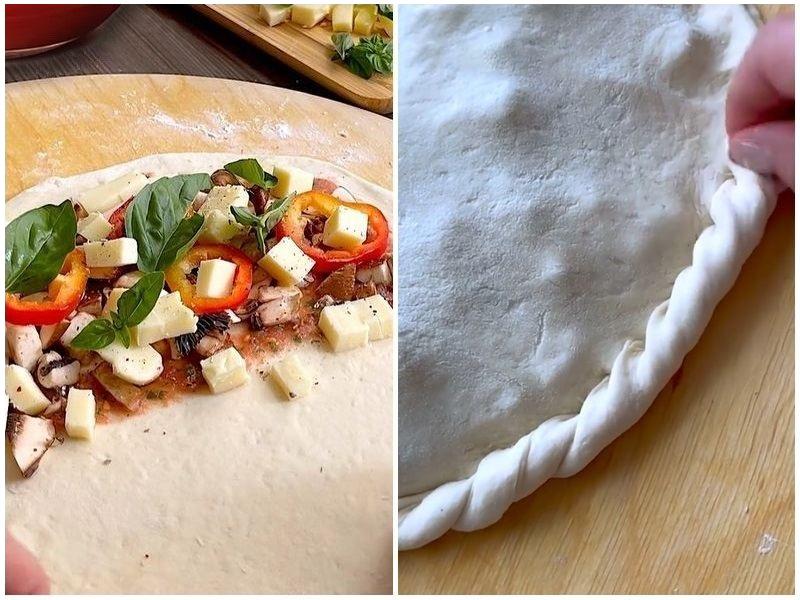 Рецепт пиццы Кальцоне
