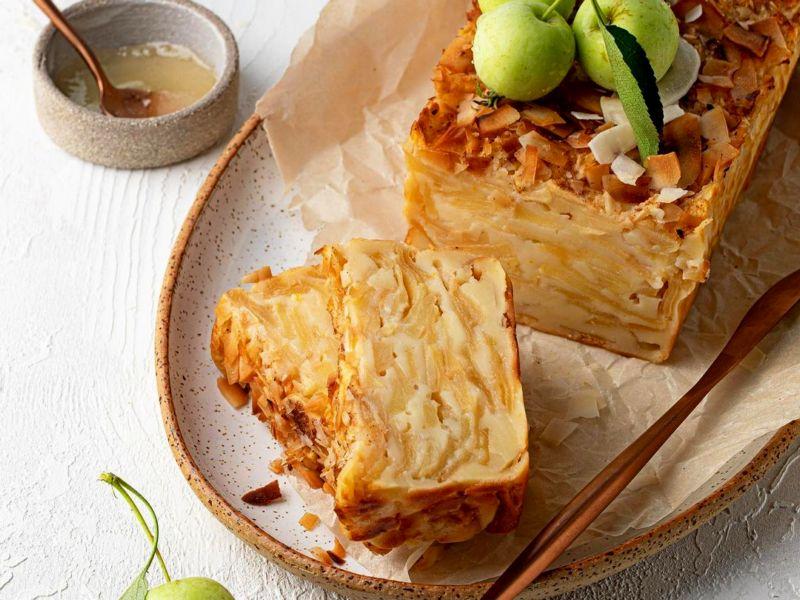 Французский невидимый яблочный пирог рецепт много яблок мало теста