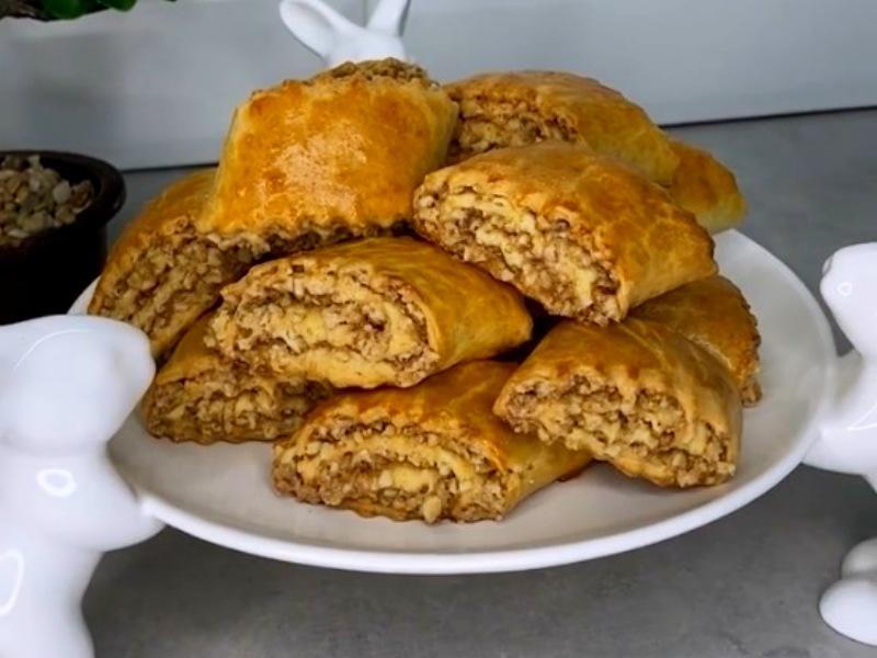 Кята гата рецепт печенья на сметане кефире с орехами