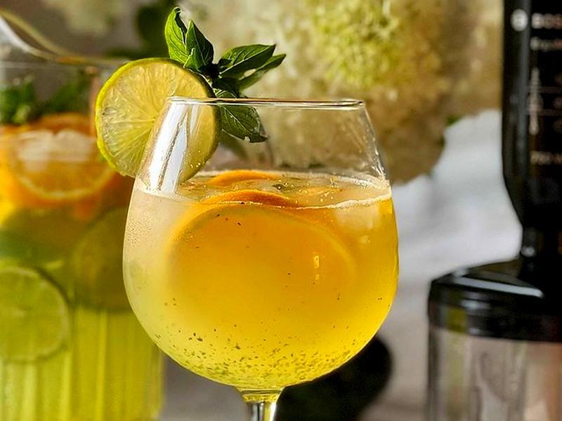 Лимонад из базилика с лимоном 🍋 апельсином рецепт напитка