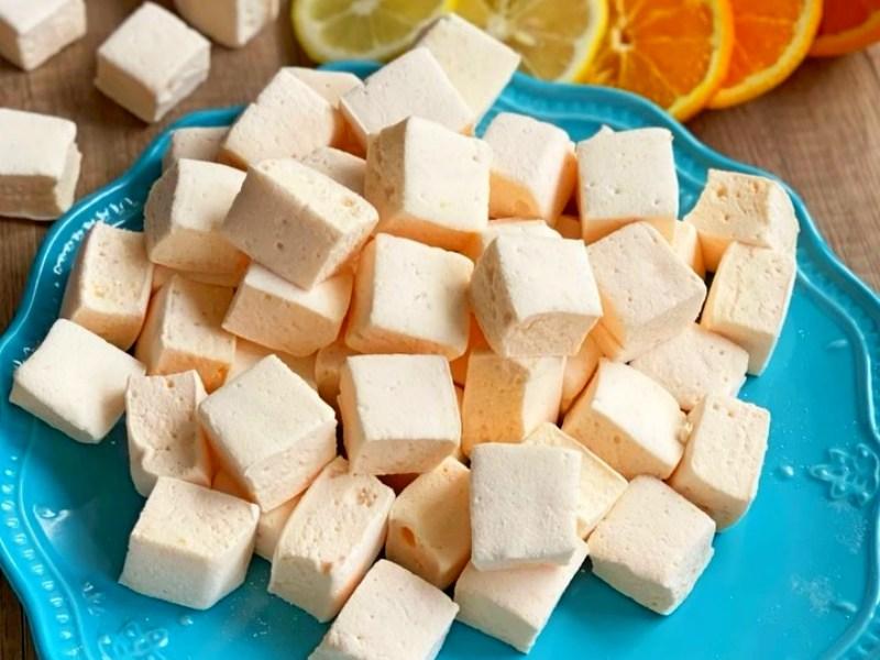 Маршмеллоу с желатином рецепт фруктовый лимонный апельсиновый