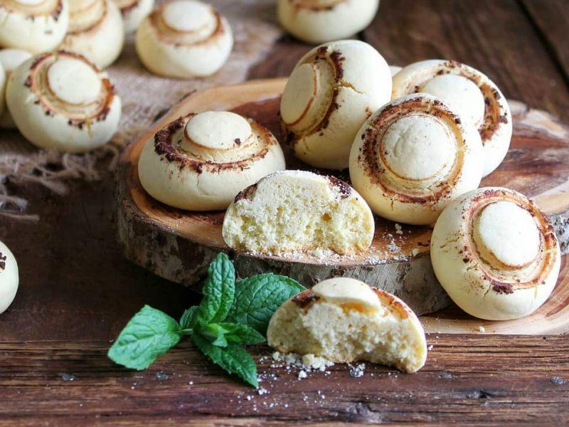Печенье Шампиньоны рецепт с крахмалом