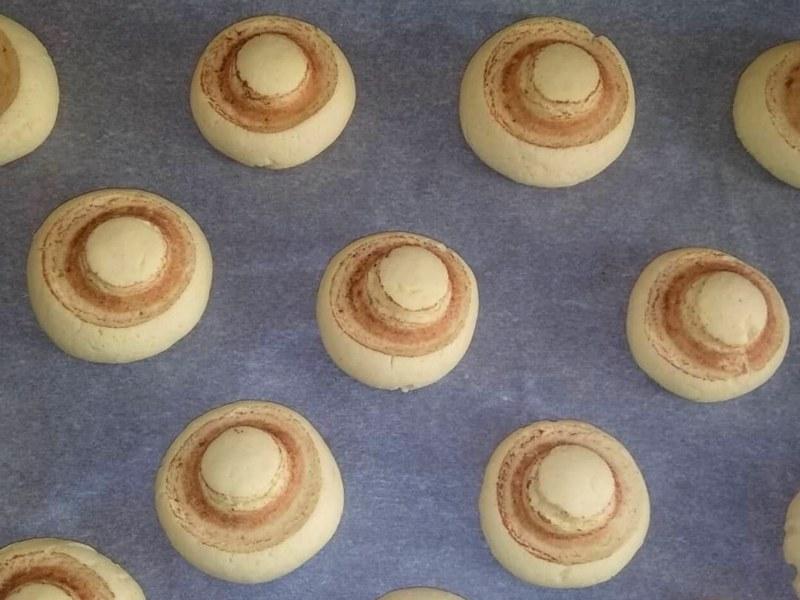 Печенье на крахмале Шампиньоны рецепт