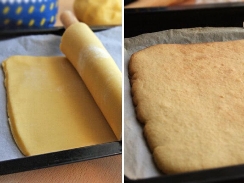 Песочное пирожное с повидлом полоска рецепт