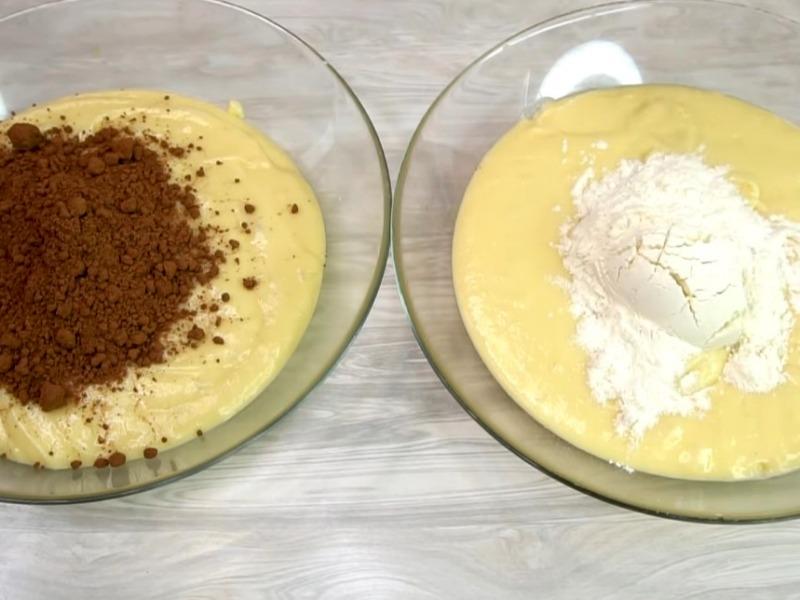 Домашний пирог Зебра рецепт в духовке