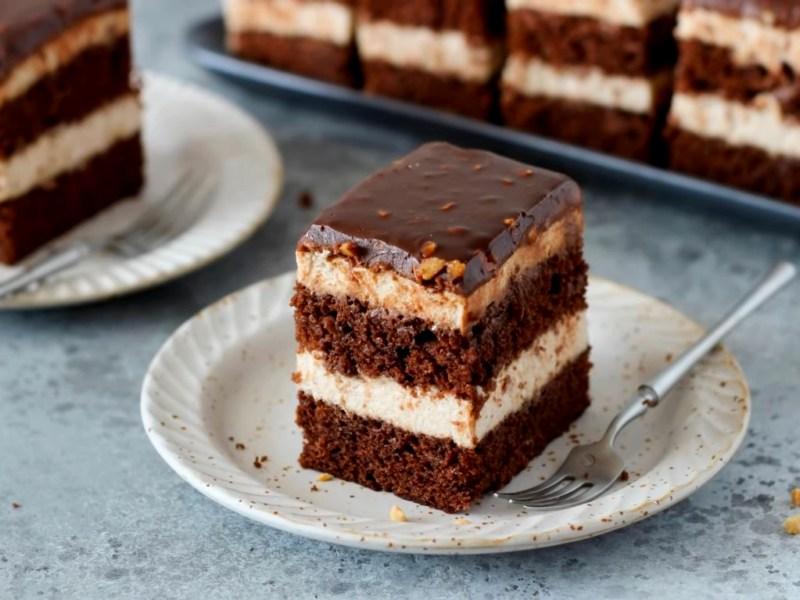 Нарезные пирожные Банановый Шоколад рецепт