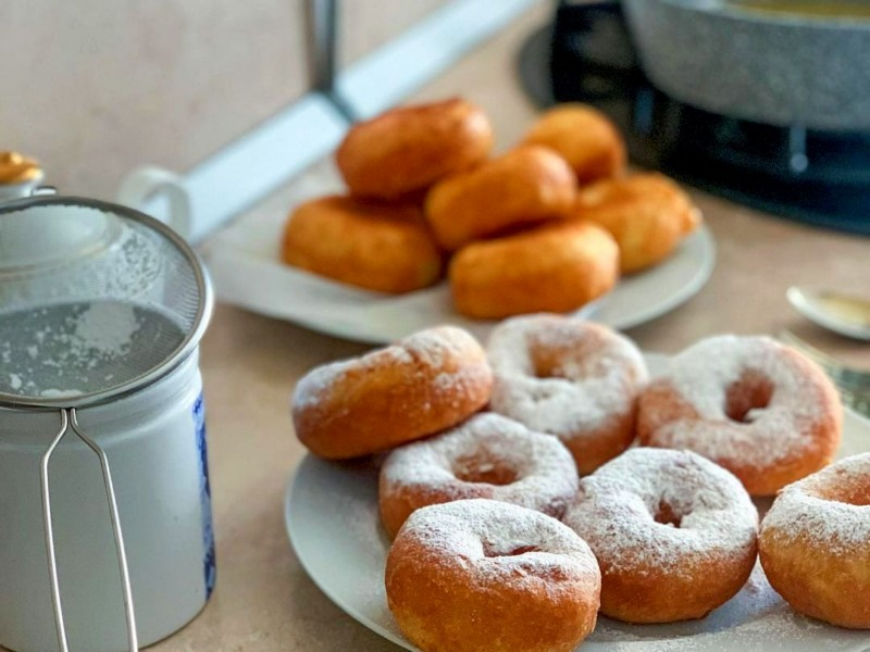 Домашние пончики на дрожжах рецепт