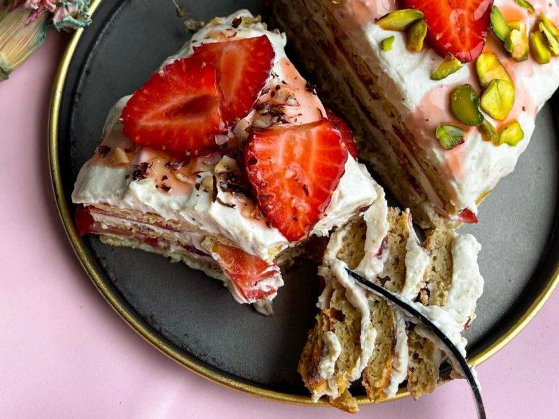 ПП торт с яблоками рецепт