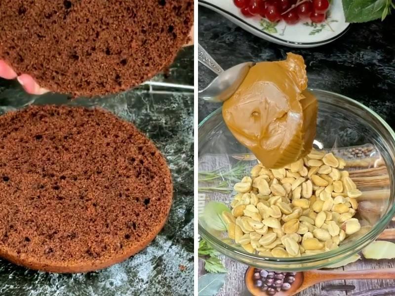 рецепт торта сникерс с вареной сгущенкой