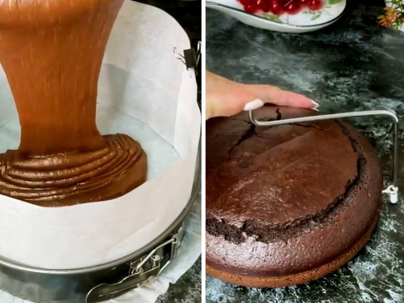 торт сникерс с арахисом и сгущенкой
