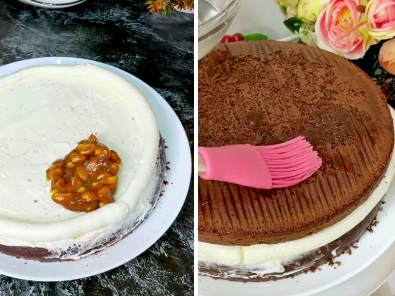 торт сникерс с вареной сгущенкой