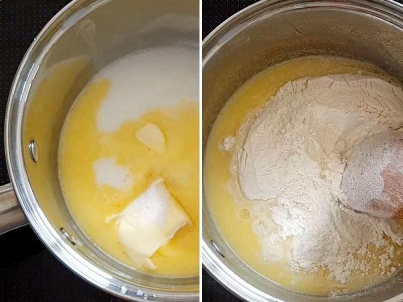 Заварное тесто для коржей на торт Карпатка