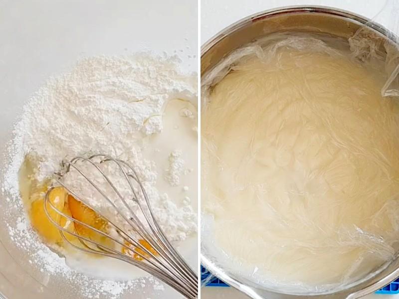 Заварной крем для торта Карпатка