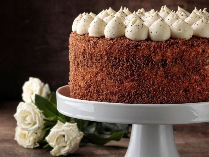Торт с грецким орехом и кофе рецепт