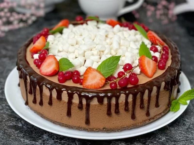 Торт Три шоколада рецепт без выпечки