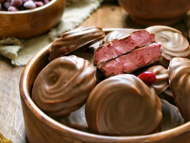 Вишневый зефир в шоколаде рецепт