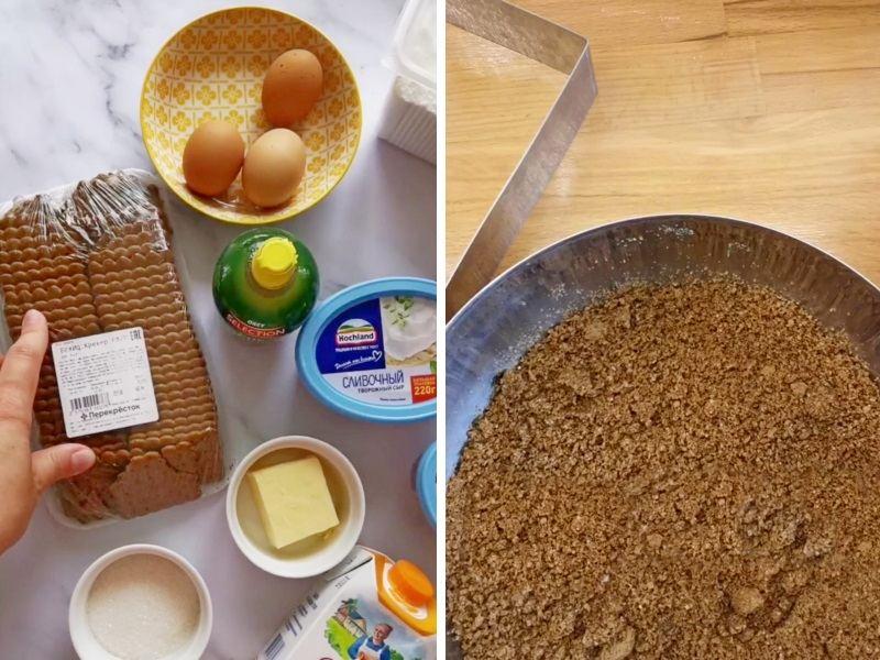 Чизкейк нарезной рецепт с выпечкой
