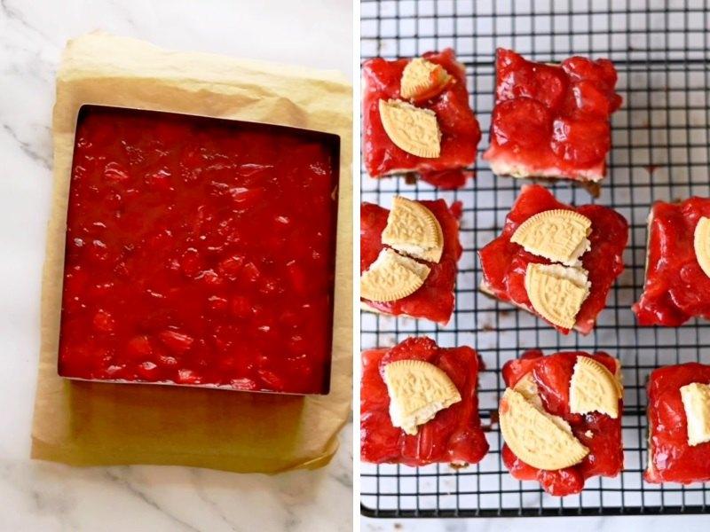 Чизкейк с клубникой рецепт с выпечкой
