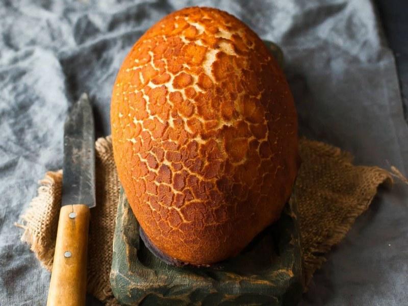 Леопардовый тигровый хлеб или батон рецепт