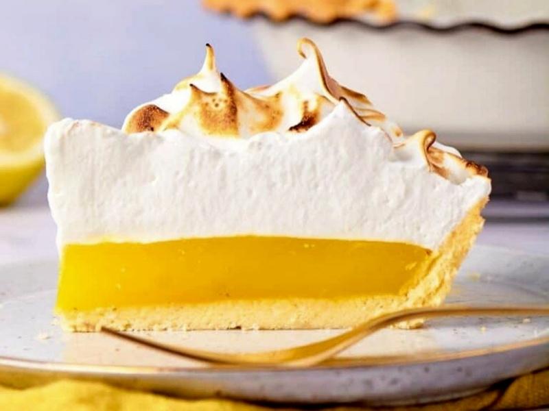 Лимонный тарт с курдом и меренгой рецепт