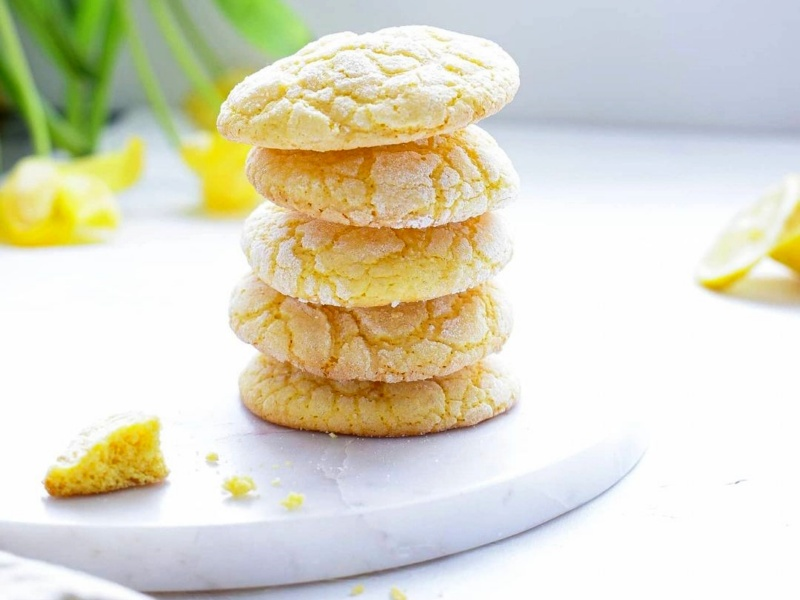 Лимонное печенье с трещинками рецепт домашнего песочного печенья