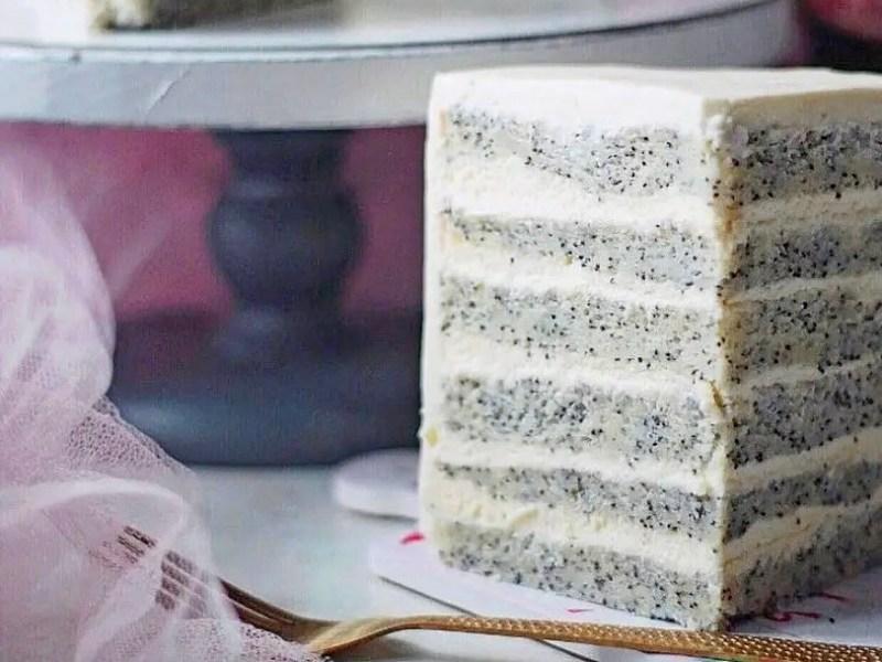 Маковый торт со сметанным кремом