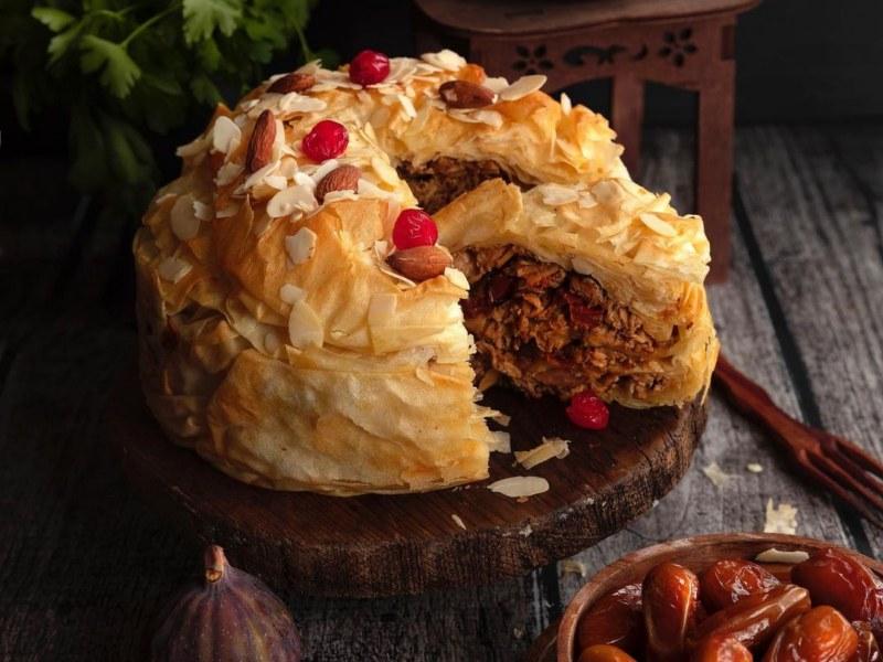 Марокканский пирог с курицей